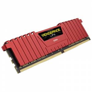 Corsair Ddr4, 2400mhz 8gb 1 X 288 Dımm, Unbuffered, 16-16-16-39, Vengeance Lpx Red Heat Spreader,