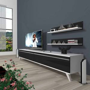 DECORAKTİV EKO 4 MDF STD RETRO TV ÜNİTESİ +2 RAF 8682109200660