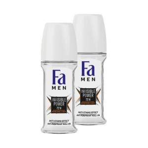 FA MEN INVISIBLE POWER ROLL-ON 50 ML X 2 ADET