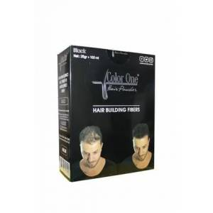 Color One Hair Dolgunlastirici Saç Fiberi Hair Powder BLACK 25 g +100 ml