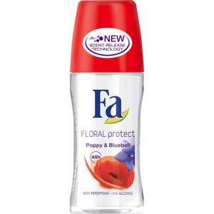 Fa Roll-On Floral Protect Poppy & Bluebell 50 ml Alkolsüz
