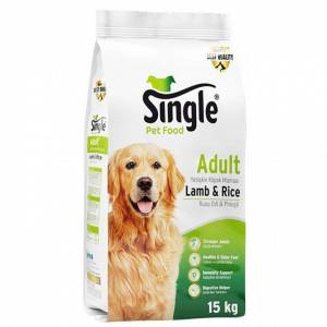 SINGLE PUPPY LAMP KUZU ETLİ YAVRU KOPEK MAMASI 15 KG