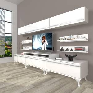 DECORAKTİV EKOFLEX 8Y MDF RUSTİK TV ÜNİTESİ TV SEHPASI TV UNİTESİ