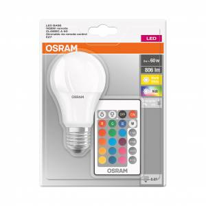 Osram Led Base RGBW Remote Classic 9-60W E27 2700 K