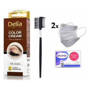 Delia Color 4.0 Brown 15ml+ Lionesse Kaş Fırçası 396