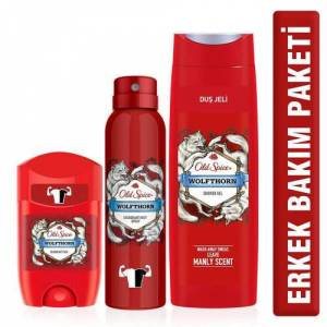 Old Spice Wolfthorn Deo Stick Duş jeli 3 lü set