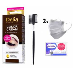 Delia Color 3.0 Dark Brown 15ml+ Lionesse Kaş Fırçası 396