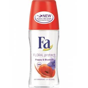 FA ROOL-ON DEODORANT FLORAL  PROTECT POPPY&BLUEBELL  50ML