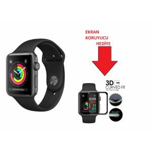 APPLE Watch MTF02TU/A Seri 3 GPS, 38mm Space Grey Aluminium Case with Black Sport Band