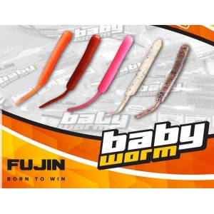 Fujin Baby Worm 5.2 cm Floating LRF Silikonu Orange(Turuncu)