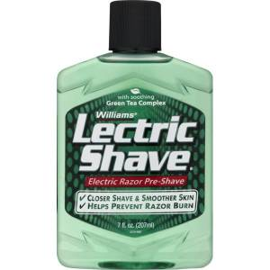 Williams Lectric Shave 207 mL.