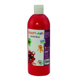 Craft And Arts Akrilik Boya 500 ml Kırmızı