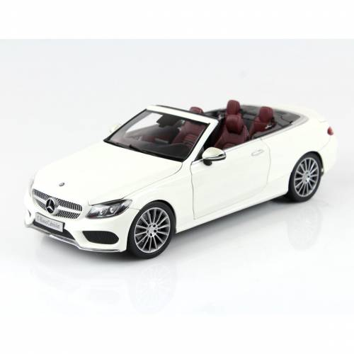 ISCALE B66960613 1/18 MERCEDES-BENZ C CLASS CABRİOLET WHİ