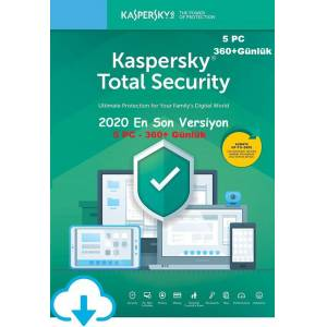 KASPERSKY TOTAL SECURITY 2020 5 PC / 1 YIL En İyi Fiyat