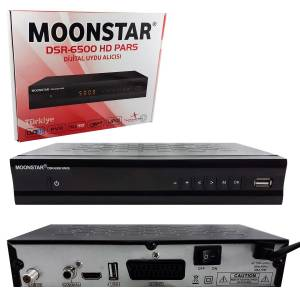 KASALI FULL HD UYDU ALICISI HDMI + SCART 2USB MOONSTAR DSR-6500 HD PARS
