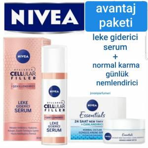 Nivea Leke Giderici Serum 30ml + 50ml Normal Karma Nemlendirici