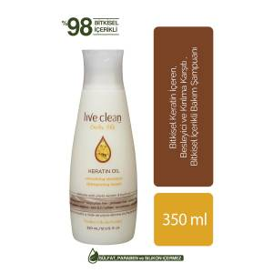 LIVE CLEAN KERATİN OIL ŞAMPUAN 350ML