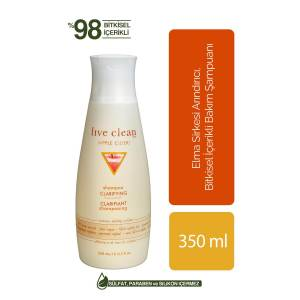 LIVE CLEAN APPLE CIDER VINEGAR CLARIFYING ŞAMPUAN 350ML