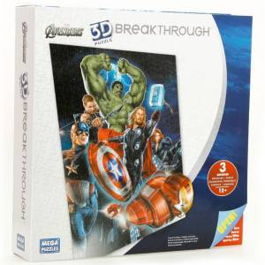 Mega Puzzle 300 Parça 3 Boyutlu Puzzle Breakthrough The Avengers