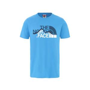 THE NORTH FACE MOUNTAIN LINE TEE ERKEK OUTDOOR T-SHİRT CLEAR LAKE BLUE