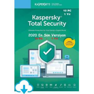 KASPERSKY TOTAL SECURITY 2020 10 PC / 1 YIL En İyi Fiyat