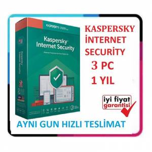 KASPERSKY INTERNET SECURITY 2020 - 3 PC / 1 YIL - EN SON VERSİYON Windows 10 Uyumlu