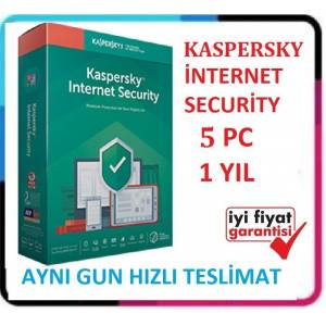 KASPERSKY INTERNET SECURITY 2020 - 5 PC / 1 YIL - EN SON VERSİYON Windows 10 Uyumlu
