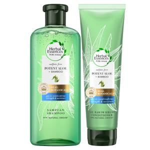 Herbal Essences Sülfatsız Aloe 380 ml Bambu Şampuan + 275 ml Saç Kremi