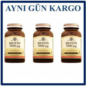 Solgar Biotin 5000 mcg 50 Vegetable Kapsül 3 Adet