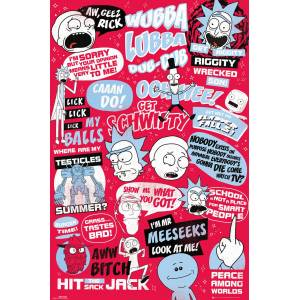 RICK AND MORTY QUOTES MAXI POSTER İTHAL