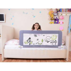 Portable Bed Barrier 120x65 cm Grey