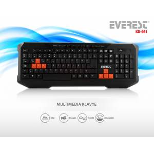 Everest KB-961 Siyah USB Q Multimedia Klavye