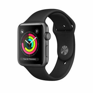 Apple Watch S3 42mm Space Grey Alüminyum Kasa ve Black Sport Kordon (Mtf32Tu/a)