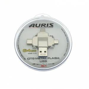 Auris 64GB USB-Lightning-Type-C-Micro USB Flash Bellek
