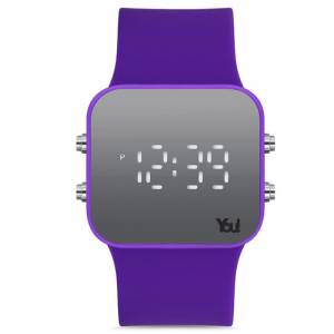 You Watch YW1004 Led Free Purple Kol Saati