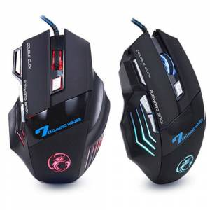 OYUNCU MOUSE 5500 DPI GAMING RGB LED'LI MOUSE Işıklı Oyuncu Gaming Gamer Lazer Mouse Led Ledli Mause