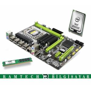 INTEL X58 ANAKART INTEL İ7 930 CPU 8GB DDR3 RAM'LI ANAKART SET