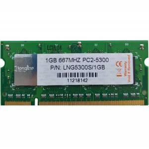 Longline 1GB DDR2 667MHz Notebook Bellek CL15 PC2-5300 SO-DIMM LNGDDR2667NB/1GB