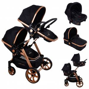 Mamma Twin Gold Travel Sistem İkiz Bebek Arabası