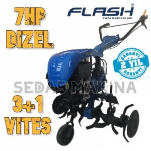 FLASH 300 - 7 HP DİZEL MARŞLI ÇAPA MAKİNESİ