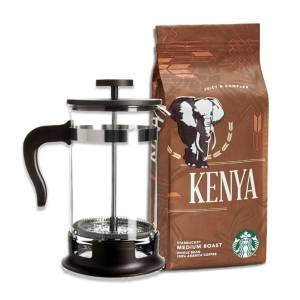 Starbucks Kenya 250Gr French Press Öğütülmüş +French Press Demlik