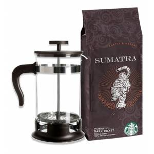 Starbucks Sumatra 250Gr French Press Öğüt + French Press Demlik