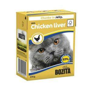 Bozita Chunks İn Jelly With Chicken Liver Kedi Maması 370 Gr 12 adet