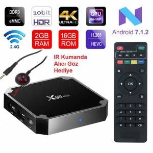 X96 MİNİ TV BOX ANDROİD 7.1 2GB RAM 16GB HAFIZA+MİNİ KLAVYE