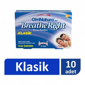 OtriNatura Breathe Right Klasik Burun Bandı 10 Adet