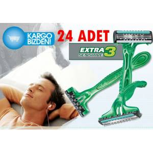 Wilkinson Sword Extra 3 Sensitive TAM 24 ADET