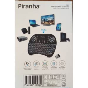 Piranha 2385 Kablosuz Mini Klavye Mouse Işıklı Smart Tv Box Pc Şarjlı 2385