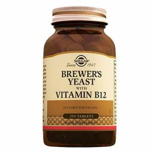 Solgar Brewers Yeast with Vitamin B12 250 Tablet