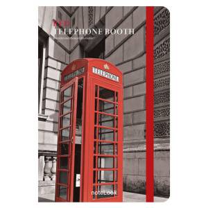 Notelook Red Telephone Booth A5Çizgili  Notelook