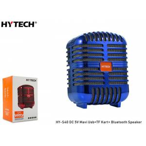 Hytech HY-S40 DC 5V Bluetooth Speaker Mavi Usb+TF Kart